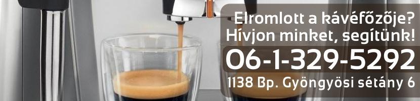Kávéfőző gép szerviz