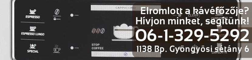 Saeco kávéfőző szerviz